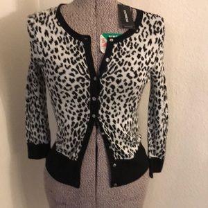 Express leopard print cardigan
